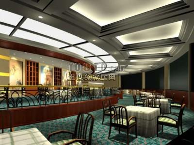 餐厅3D模型下载23