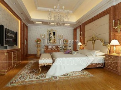 现代风格卧室3D模型61