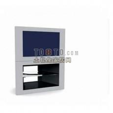 中式电视3d模型下载