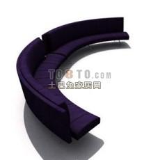 公共座椅素材293d模型下载