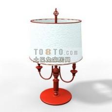 红色欧式现代台灯3d模型下载