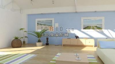 国外现代风格卧室3D模型2套