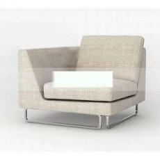 布艺拐角单人沙发3d模型下载