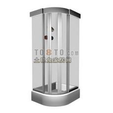 淋浴房效果图制作素材库、max3d模型下载