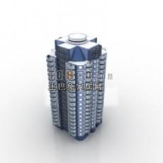 建筑景观-建筑3d模型下载