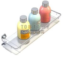 化妆品,瓶子,香皂盒等洗浴用品3D模型8-5套