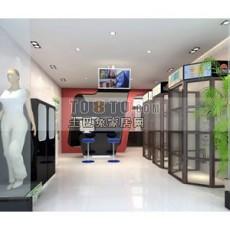 服装店设计3d模型下载