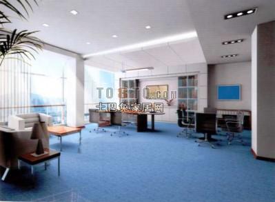 办公室3D模型下载11