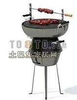 烧烤架子3d模型下载