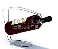 铁艺酒架3d模型下载
