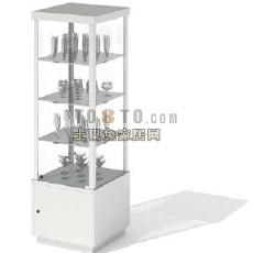 珠宝柜台-珠宝货架3d模型下载