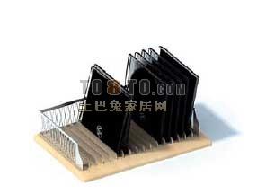 办公用品3D模型-文件夹-文件架46套