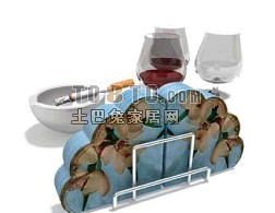 酒杯烟灰缸3d模型下载