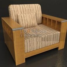 中式实木沙发3d模型下载
