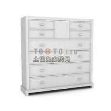 办公柜-文件柜4-5套3d模型下载