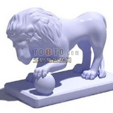 白色欧式现代工艺品3d模型下载