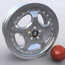 宝马车轮胎3d模型下载