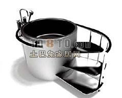 圆形浴缸3d模型下载