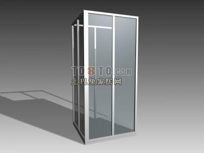 3D淋浴房模型-006