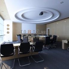 办公室顶3d模型下载
