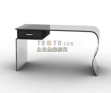 白色现代风格书桌