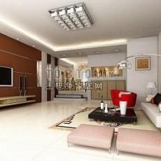 客厅-室内空间3d模型下载