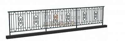 铁艺栏杆护栏3d模型下载