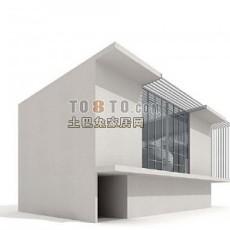 户外建筑023d模型下载