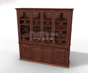 白色欧式古典酒柜