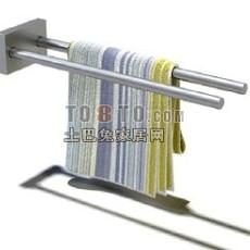 毛巾杆3d模型下载