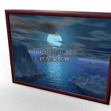 装饰挂画3d模型下载
