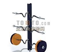 杠铃支架-体育用品素材3d模型下载