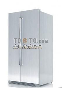 双开门冰箱3d模型下载