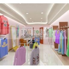 服装展厅免费3d模型下载