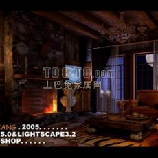 客厅3d模型下载