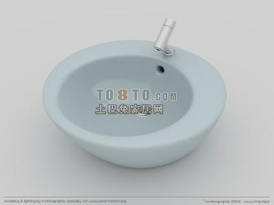 3D卫浴模型-小便斗模型2套