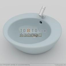 卫浴-小便斗2套3d模型下载