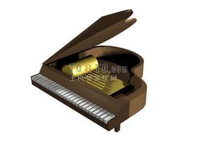 钢琴3Dmax模型、3d效果图制作素材库