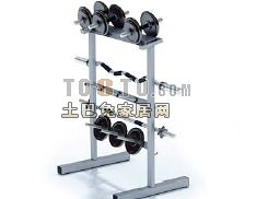 哑铃支架8-体育用品素材3d模型下载