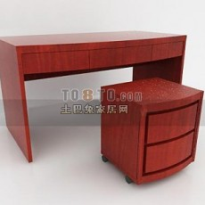 中式桌子3d模型下载