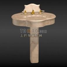 洗手池3d模型下载