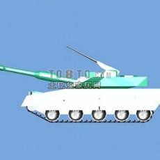 坦克兵器素材223d模型下载