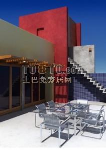 建筑3-5套(含材质贴图)3d模型下载