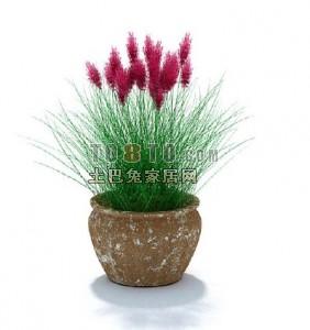 盆栽鲜花3d模型下载