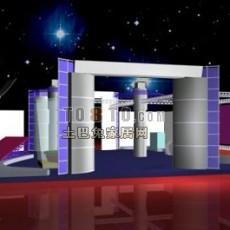 艺术展厅3d模型下载
