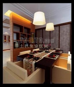 餐厅3D模型下载65