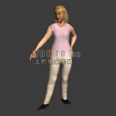 普通老年女性形象3d模型下载