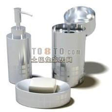 化妆品,瓶子,香皂盒等洗浴用品3-5套3d模型下载