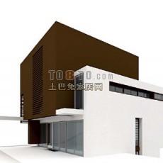 现代风格户外建筑3d模型下载