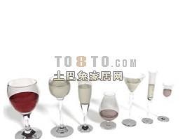酒杯图片3d模型下载